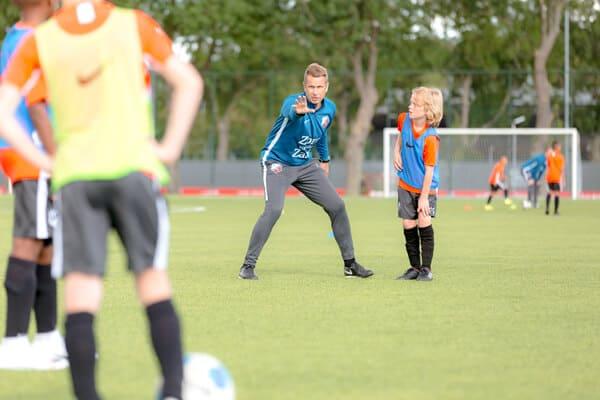 FC Utrecht Voetbalkamp in Utrecht in de zomervakantie op 22 en 23 juli