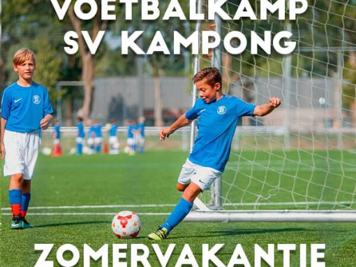 SV Kampong Voetbalkamp in Utrecht in de zomervakantie