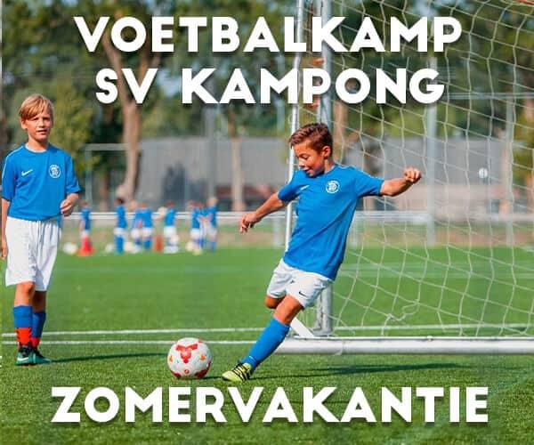SV Kampong Voetbalkamp in Utrecht in de zomervakantie 2021