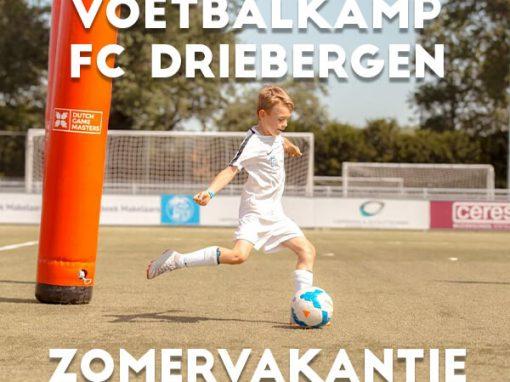 FC Driebergen Voetbalkamp in de zomervakantie