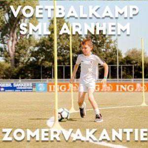 SML Voetbalkamp in Arnhem in de zomervakantie 2021