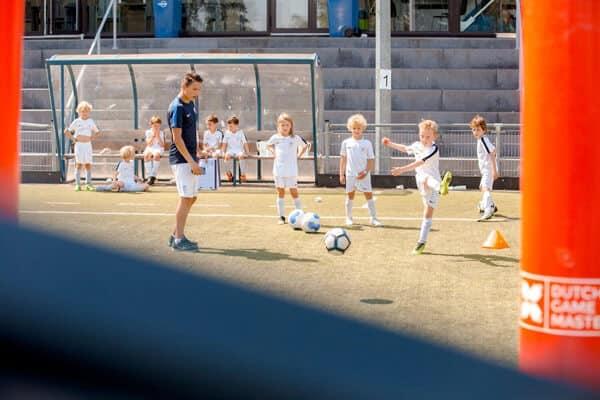 Voetbalkamp in Bennekom in de zomervakantie van 2021