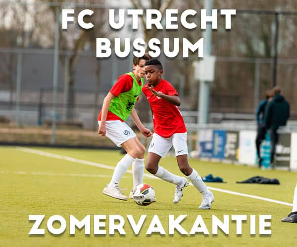 FC Utrecht Voetbalkamp in Bussum in de zomervakantie 2021