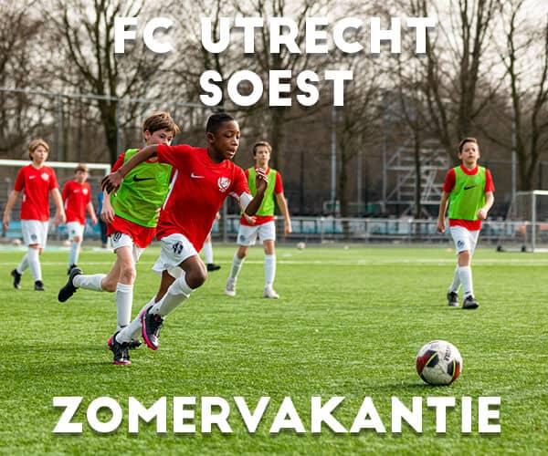 FC Utrecht Voetbalkamp in Soest in de zomervakantie 2021