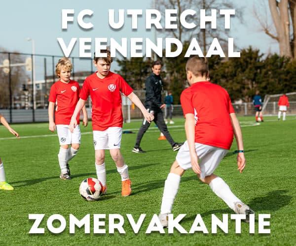 FC Utrecht Voetbalkamp in Veenendaal in de zomervakantie
