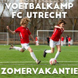 FC Utrecht Voetbalkamp in Utrecht in de zomervakantie op 22 en 23 juli 2021