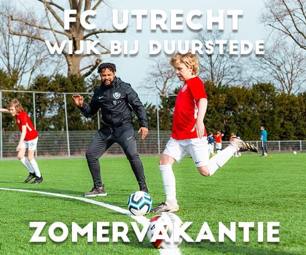 FC Utrecht Voetbalkamp in Wijk bij Duurstede in de zomervakantie
