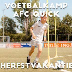 AFC Quick 1890 Voetbalkamp in Amersfoort in de herfstvakantie 2021
