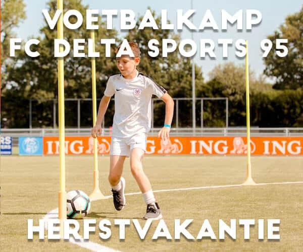 FC Delta Sports '95 Voetbalkamp in de herfstvakantie (21 en 22 oktober)