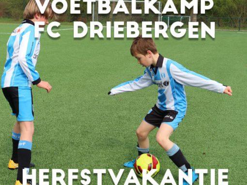 FC Driebergen Voetbalkamp in de herfstvakantie